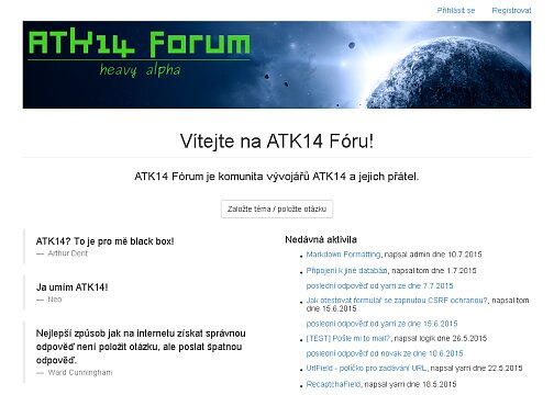 Screenshot: ATK14 Forum