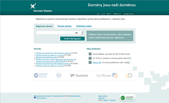 Screenshot: Domain Master