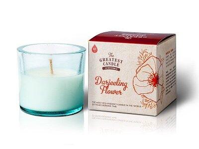 Vonná svíčka ve skle (75 g) - květ Darjeelingu