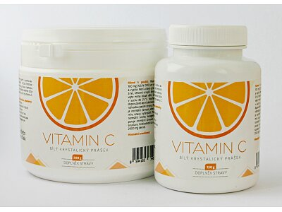 Vitamín C - bílý krystalický prášek 500g