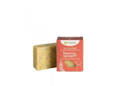 Tuhé olivové mýdlo Bio - Mák a cypřiš 100g