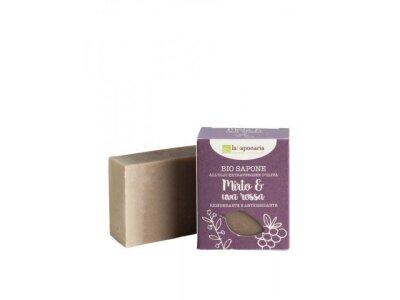 Tuhé olivové mýdlo Bio - Myrta a červené hrozny 100g