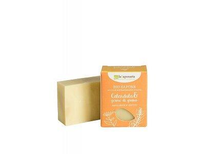 Tuhé olivové mýdlo BIO - Měsíček a pšeničné klíčky (100 g)