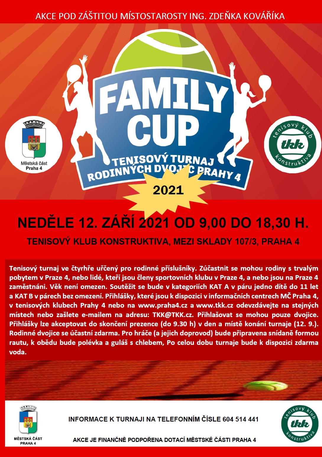 Plakát Turnaj rodinných dvojic 2021