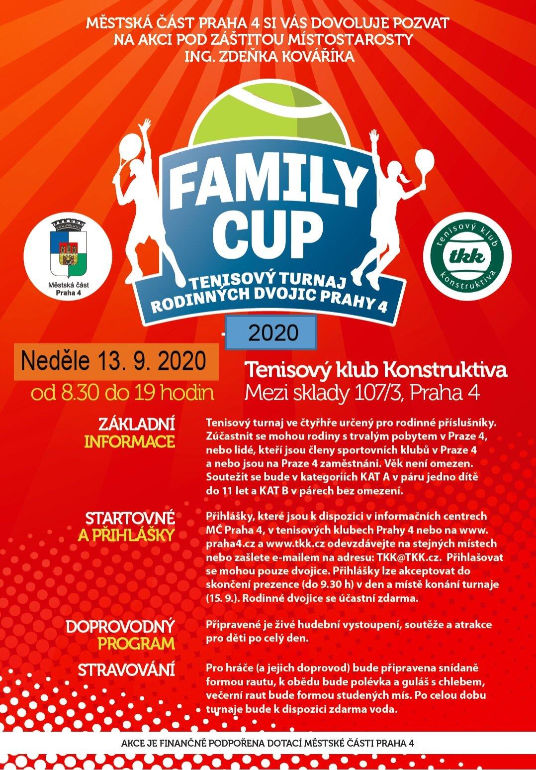 Plakát Turnaj rodinných dvojic 2020