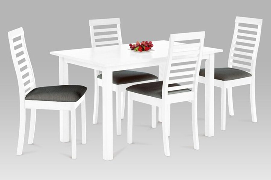 SET 1+4, 120x75 cm, barva bílá