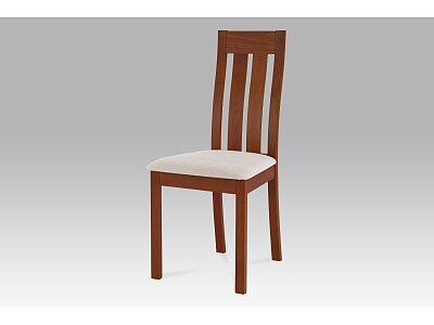 Jídelní židle masiv buk, barva třešeň, potah béžový