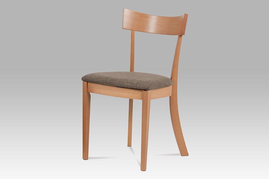 Jídelní židle, barva buk, potah krémový