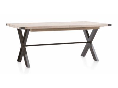 Frankfurt 190 - moderní rozkládací jídelní stůl, deska dub, kov nohy