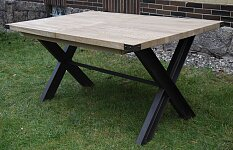 Moderní rozkládací jídelní stůl s rozkladem 160x100 cm v industriálním provedení