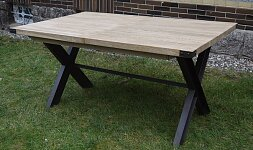 Masivní jídelní stůl s kvalitním rozkladem 160x100 + 50cm