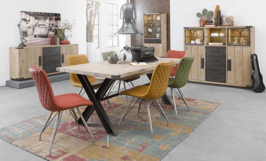 Parádní moderní jídelní stůl 160x100+60 cm rozklad