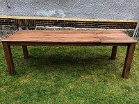 Masivní dubový stůl York 140x90 cm + 60 cm rozklad