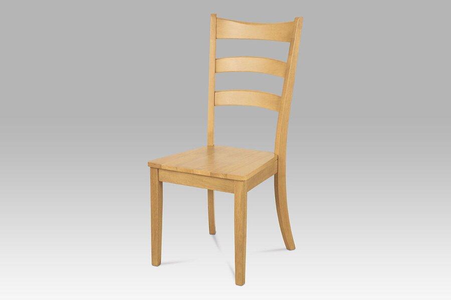 Jídelní židle celodřevěná, barva bělený dub