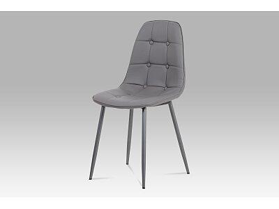 Jídelní židle, šedá ekokůže