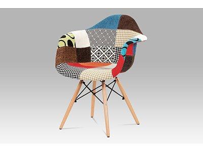 Jídelní židle, patchwork / masiv buk