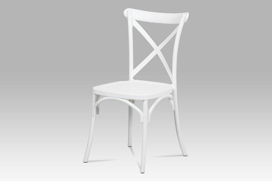 Jídelní židle, bílá plast