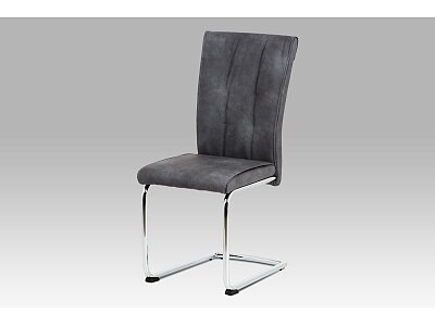 Jídelní židle, šedá vintage ekokůže MAYA