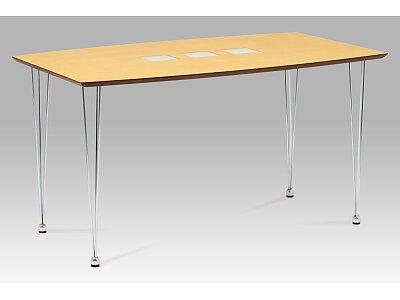 Jídelní stůl 135x80 cm, chrom / dýha natural