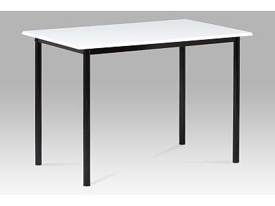 Jídelní stůl do malých prostor, vysoký lesk bílý / černý lak