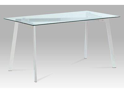 Jídelní stůl -- čiré sklo / chrom