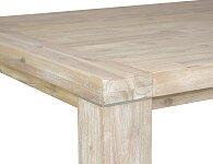 Detail upevnění nohy k desce masivního stolu