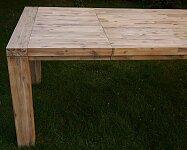 Rozkládací jídelní stůl z masivu 160x100 +60 cm