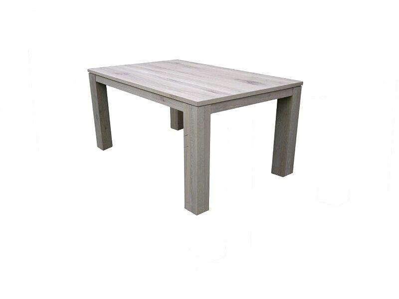 Kvalitní jídelní stůl s jednoduchým rozkladem v šedém odstínu