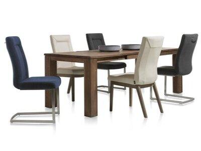 Master - masivní rozkládací jídelní dubový stůl