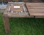 Kvalitní masivní rozkládací jídelní stůl s rozkladem 200x100+60cm