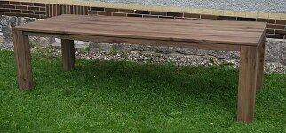 Celomasivní dubový jídelní stůl s rozkladem 200x100 + 60 cm