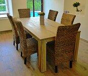 Nejlepší masivní dubový jídelní stůl s rozkladem 200x100+60cm