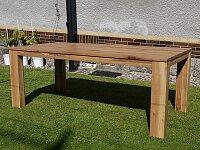 Kvalitní masivní jídelní stůl s rozkladem o velikosti 200x100+60 cm