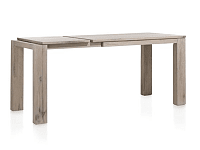 Nejlepší masivní rozkládací jídelní stůl v šedém odstínu 140x90 +60 cm rozklad