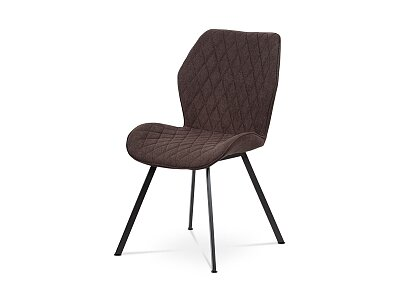 Jídelní židle, potah hnědá látka