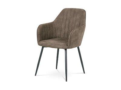 Jídelní židle, hnědá látka