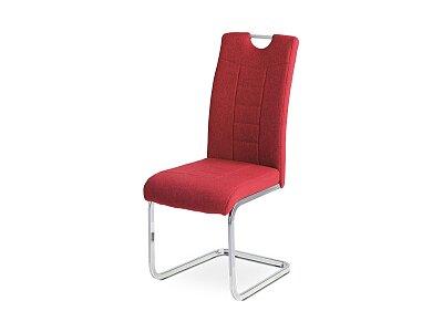 Jídelní židle, červená látka
