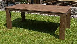 Nejlepší masivní dubový stůl v hnědém odstínu 220x100 cm