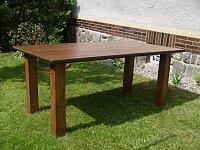 Nerozkládací dubový stůl v hnědém odstínu 180x100 cm