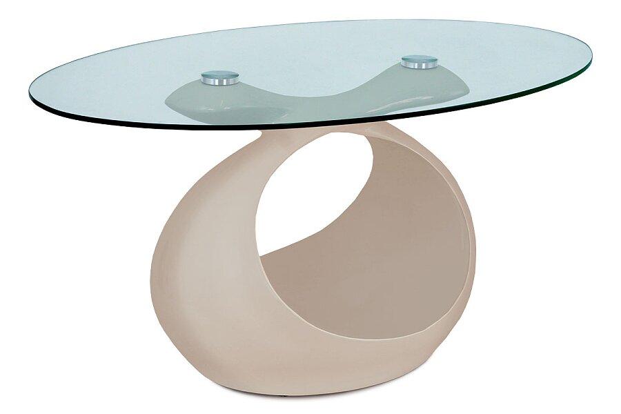 Konferenční stolek 90x55x44 cm, cappuccino vysoký lesk, čiré sklo