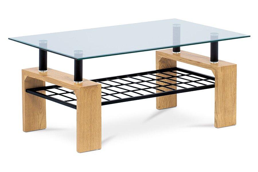 Konferenční stolek 110x60x44, čiré tvrzené sklo