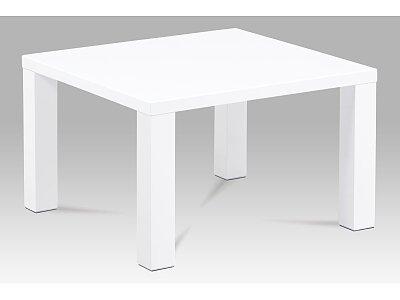 Konferenční stolek 80x80x50, vysoký lesk bílý