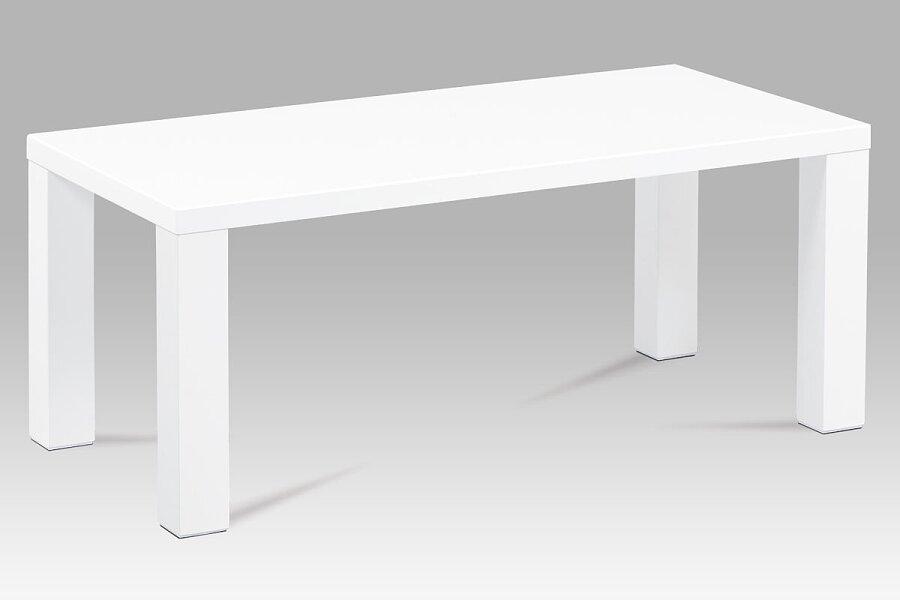 Konferenční stolek 120x60x50, vysoký lesk bílý