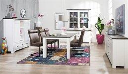 Masivní rozkládací jídelní stůl 160x100+50 cm