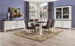 Moderní rozkládací stůl v kombinaci 2 barev