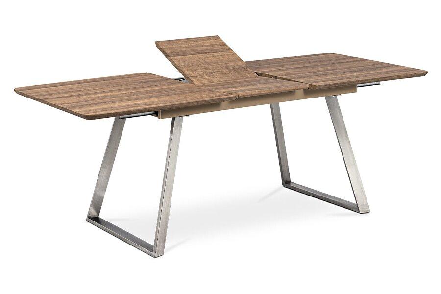 Jídelní stůl 160x90cm s rozkladem 40cm, MDF v dekoru tmavý dub