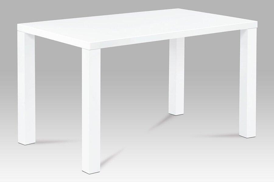 Jídelní stůl 120x80x76 cm, vysoký lesk bílý