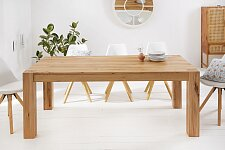 Masivní nerozkládací jídelní stůl 160x90 cm - dub