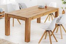 Masivní nerozkládací jídelní stůl 160x90 cm - dub, přírodní barva