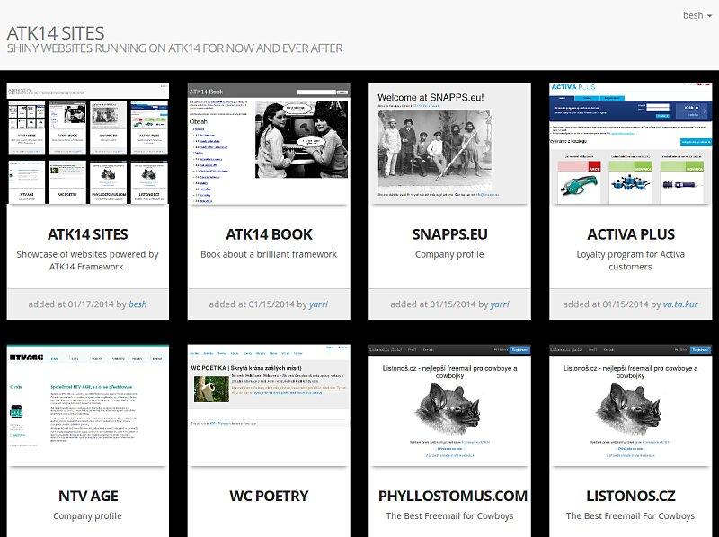Screenshot: ATK14 Sites